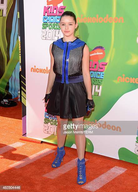 Actress Fatima Ptacek attends Nickelodeon Kids' Choice Sports Awards 2014 at UCLA's Pauley Pavilion on July 17 2014 in Los Angeles California
