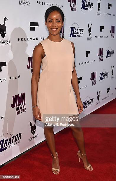Actress Faune Chamber Watkins arrives to the Los Angeles premiere of Jimi All Is By My Side at ArcLight Cinemas on September 22 2014 in Hollywood...