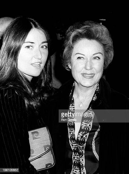 Actress Fay Wray and daughter attending 'Party for Foreign Stars' on March 26 1977 at the Academy Theater in Beverly Hills California
