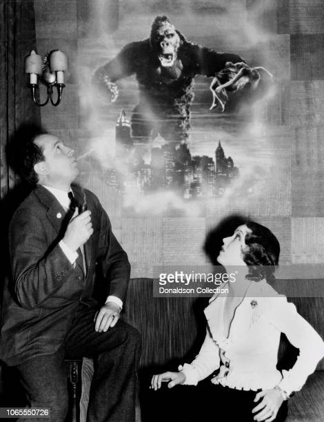 Actress Fay Wray and Robert Armstrong in a scene from the movie King Kong
