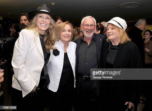 "Actress Faye Dunaway, actress Eva Marie Saint, director Norman Jewison and Angie Dickinson attend ""A Tribute to Norman Jewison"" presented by CFC and..."