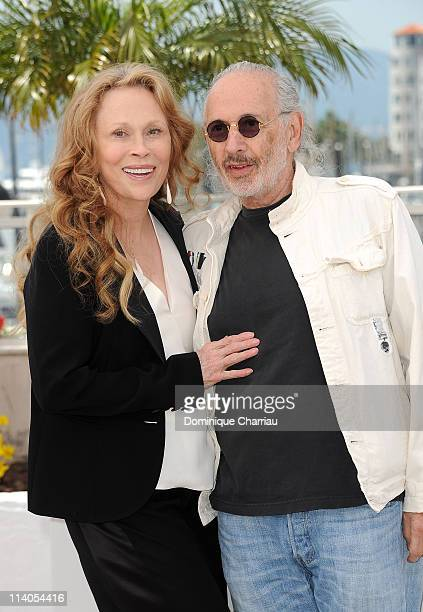 Actress Faye Dunaway and director Jerry Schatzberg attend the 'Puzzle Of A Downfall Child' Photocall at the Palais des Festivals during the 64th...