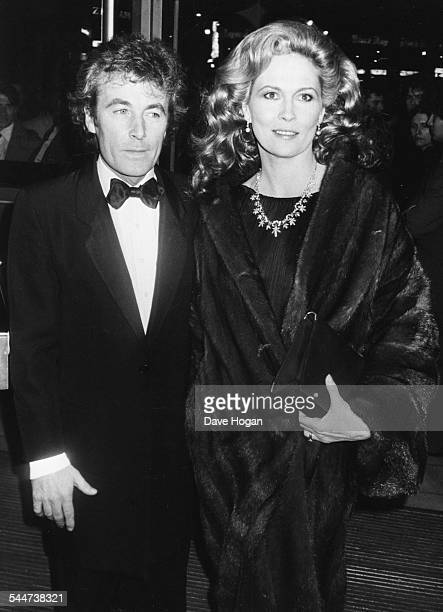 Actress Faye Dunaway and her husband Terry out on the town in the West End of London April 28th 1983