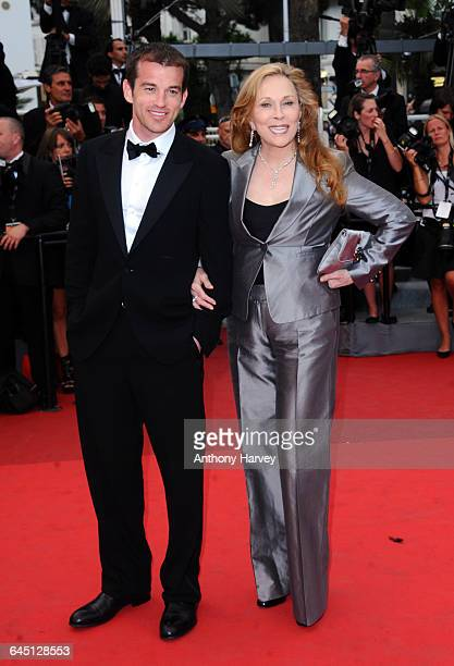 Actress Faye Dunaway and Liam O'Neill attend the 'Les Bien-Aimes' Premiere and Closing Ceremony at the Palais des Festivals during the 64th Cannes...