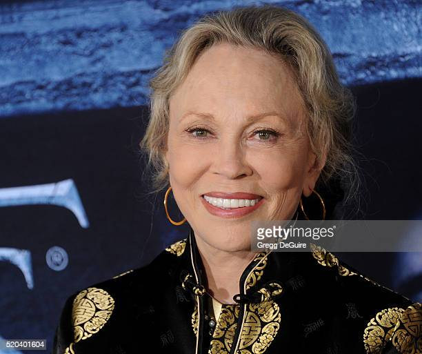 Actress Faye Dunaway arrives at the premiere of HBO's Game Of Thrones Season 6 at TCL Chinese Theatre on April 10 2016 in Hollywood California