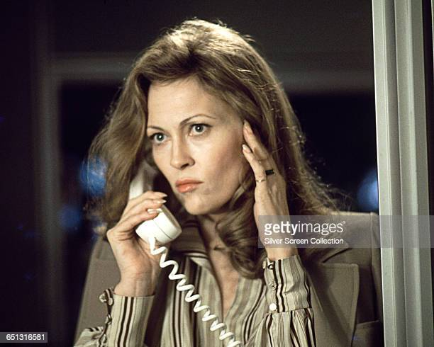 Actress Faye Dunaway as Diana Christensen in the film 'Network' 1976