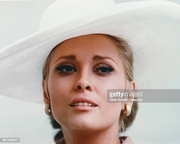Actress Faye Dunaway as insurance investigator Vicki Anderson in the heist film 'The Thomas Crown Affair' 1968