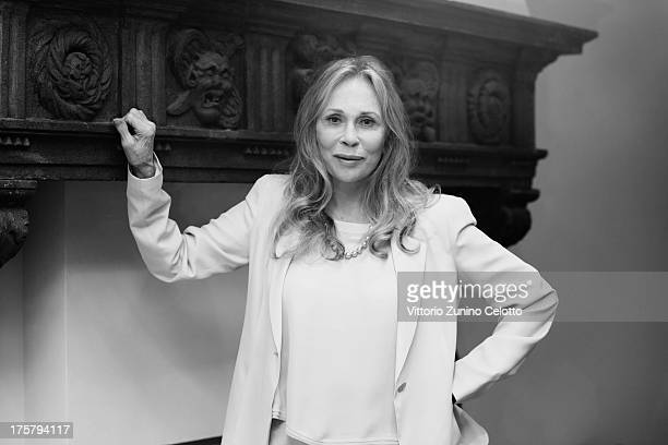 Actress Faye Dunaway attends a photocall during the 66th Locarno Film Festival on August 8, 2013 in Locarno, Switzerland.