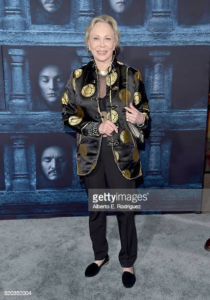 Actress Faye Dunaway attends the premiere of HBO's 'Game Of Thrones' Season 6 at TCL Chinese Theatre on April 10 2016 in Hollywood California