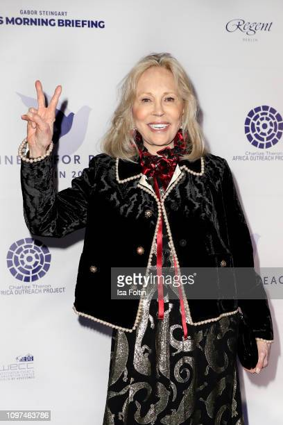 US actress Faye Dunaway during the Cinema For Peace International Committee Nominee Dinner at China Club on February 10 2019 in Berlin Germany