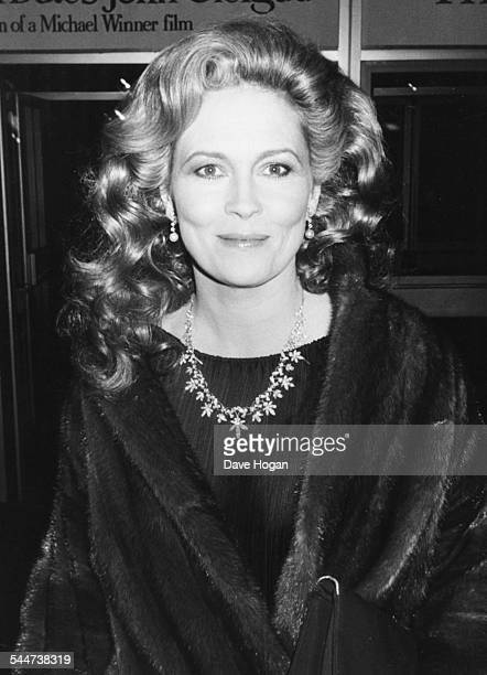 Actress Faye Dunaway out on the town in the West End of London April 28th 1983
