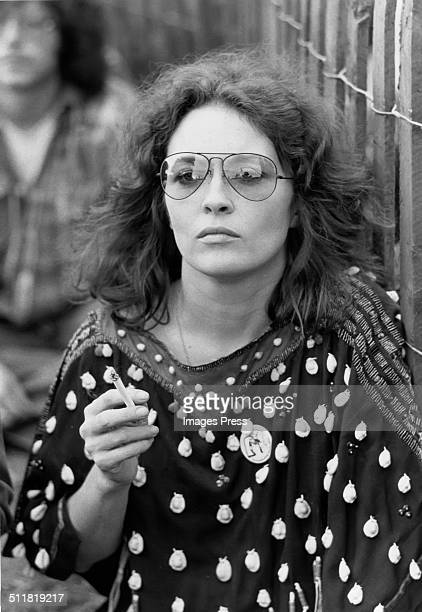 Actress Faye Dunaway photographed in the audience during a concert in Central Park New York City circa 1973
