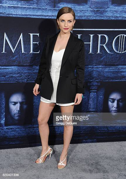Actress Faye Marsay arrives at the premiere of HBO's 'Game Of Thrones' Season 6 at TCL Chinese Theatre on April 10 2016 in Hollywood California
