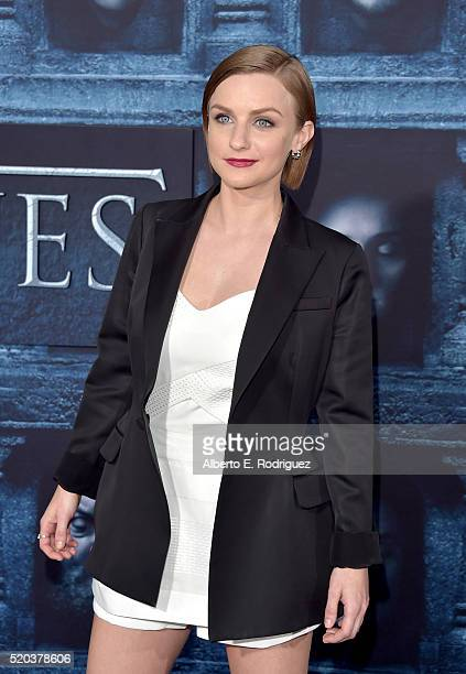 Actress Faye Marsay attends the premiere of HBO's 'Game Of Thrones' Season 6 at TCL Chinese Theatre on April 10 2016 in Hollywood California