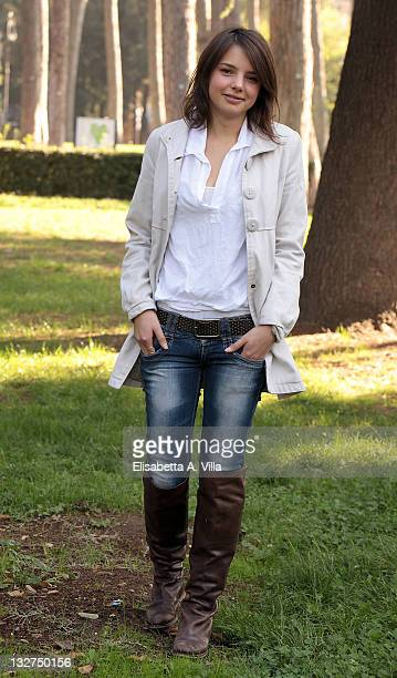 Actress Federica Sabatini attends 'Baciati Dall'Amore' TV series photocall at Casa del Cinema on November 14 2011 in Rome Italy