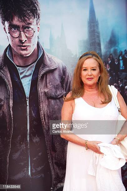Actress Fedra Lorente attends Harry Potter and The Deathly Hallows Part 2 premiere at the Callao cinema on July 7 2011 in Madrid Spain