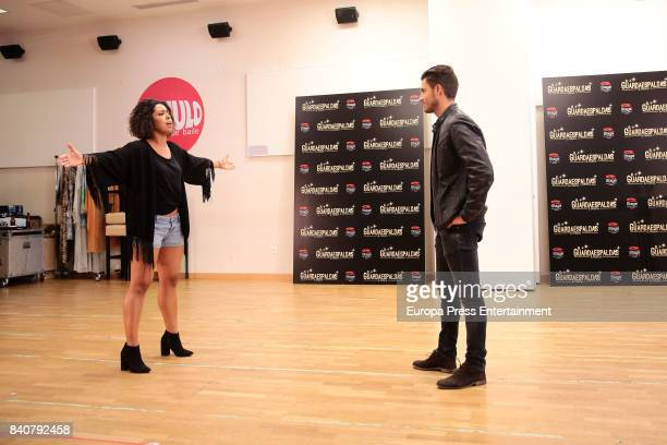 Actress Fela Dominguez and actor Maxi Iglesias are seen during the rehearsal of the musical 'The bodyguard' on August 29 2017 in Madrid Spain