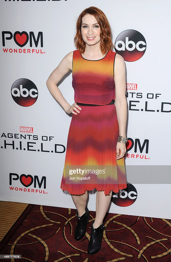 Actress Felicia Day arrives at the Premiere Of Marvel's 'Agents Of S.H.I.E.L.D.' at Pacific Theatre at The Grove on September 23, 2015 in Los Angeles, California.