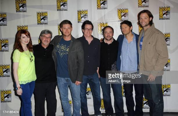 Actress Felicia Day executive producer Robert Singer actor Jensen Ackles executive producer Jeremy Carver actor Mark Sheppard actor Misha Collins and...