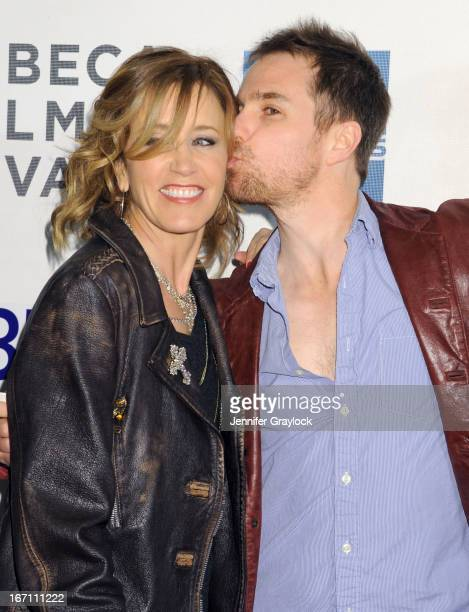 Actress Felicity Huffman and Actor Sam Rockwell attend the screening of 'Trust Me' during the 2013 Tribeca Film Festival at BMCC Tribeca PAC on April...