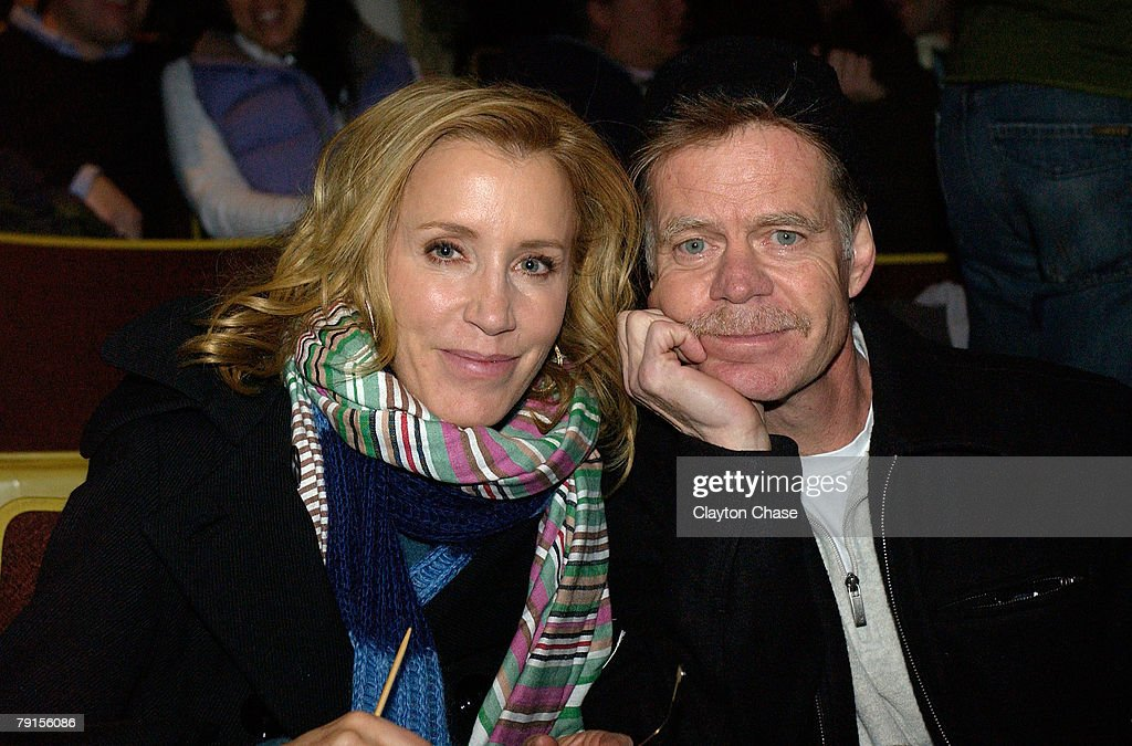 Actress Felicity Huffman and actor William H. Macy attend a screening of 'Choke' at the Racquet Club Theatre during 2008 Sundance Film Festival on January 21, 2008 in Park City, Utah.