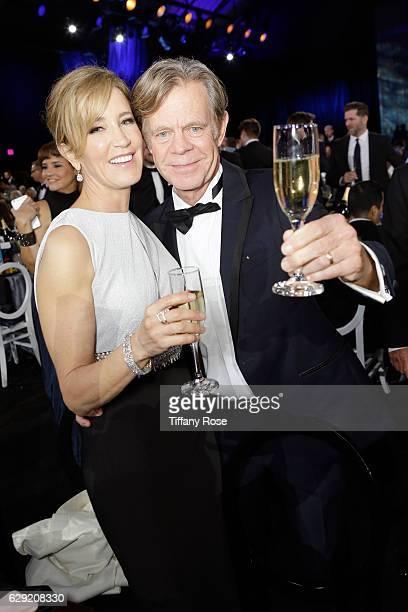Actress Felicity Huffman and actor William H Macy attend the 22nd Annual Critic's Choice Awards at Barker Hangar on December 11 2016 in Santa Monica...