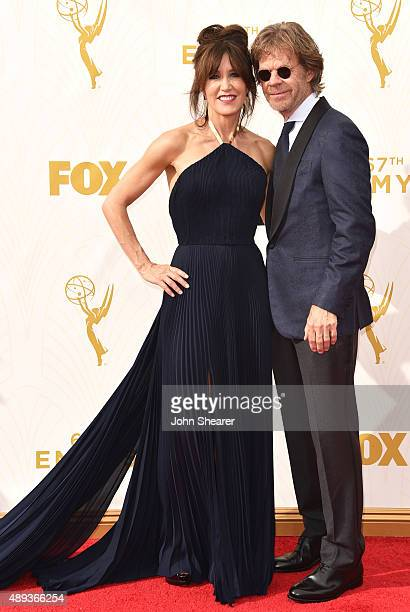 Actress Felicity Huffman and actor William H Macy attend the 67th Annual Primetime Emmy Awards at Microsoft Theater on September 20 2015 in Los...
