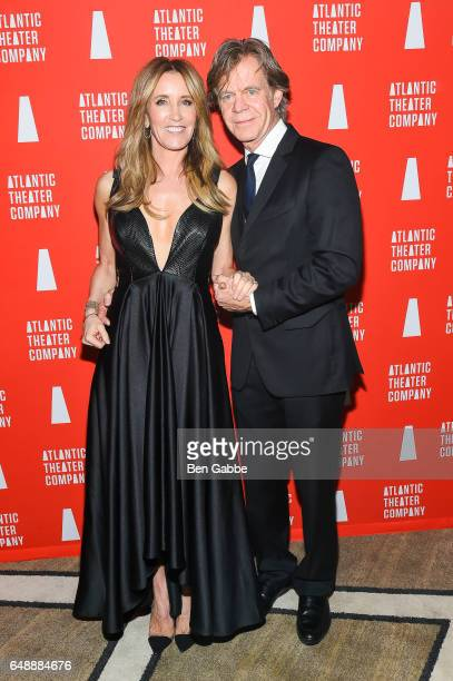 Actress Felicity Huffman and actor William H Macy attend the Atlantic Theater Company Directors' Choice gala at The Pierre Hotel on March 6 2017 in...