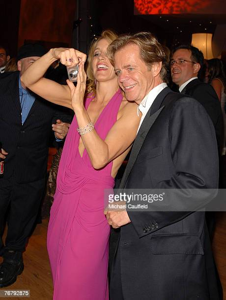 Actress Felicity Huffman and actor William H. Macy during the 4th Annual ENTERTAINMENT TONIGHT Emmy Party Sponsored By PEOPLE at the Walt Disney...