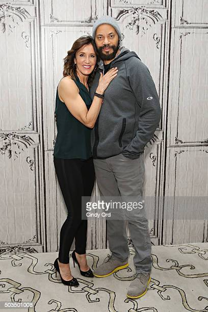 Actress Felicity Huffman and Director John Ridley take part in the AOL BUILD Series Felicity Huffman and John Ridley American Crime Season Two at AOL...