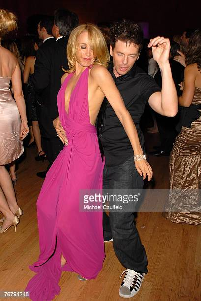 Actress Felicity Huffman and guest during the 4th Annual ENTERTAINMENT TONIGHT Emmy Party Sponsored By PEOPLE at the Walt Disney Concert Hall on...