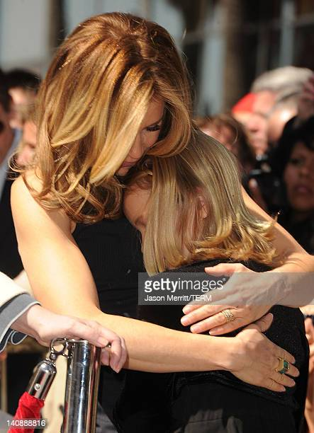 Actress Felicity Huffman and her daughter Sophia share a moment as William H Macy and Felicity Huffman are honored with a star on The Hollywood Walk...