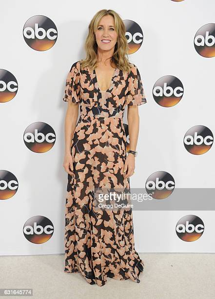 Actress Felicity Huffman arrives at the 2017 Winter TCA Tour Disney/ABC at the Langham Hotel on January 10 2017 in Pasadena California