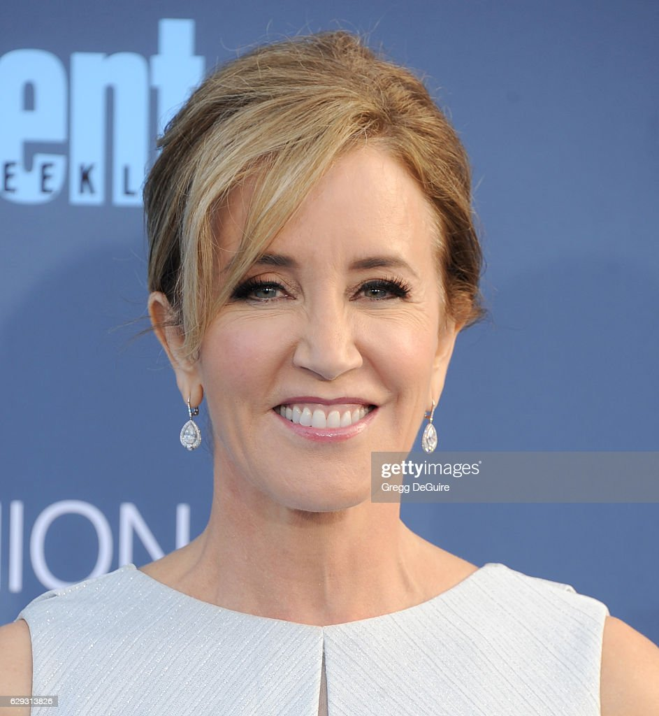 Actress Felicity Huffman arrives at The 22nd Annual Critics' Choice Awards at Barker Hangar on December 11, 2016 in Santa Monica, California.