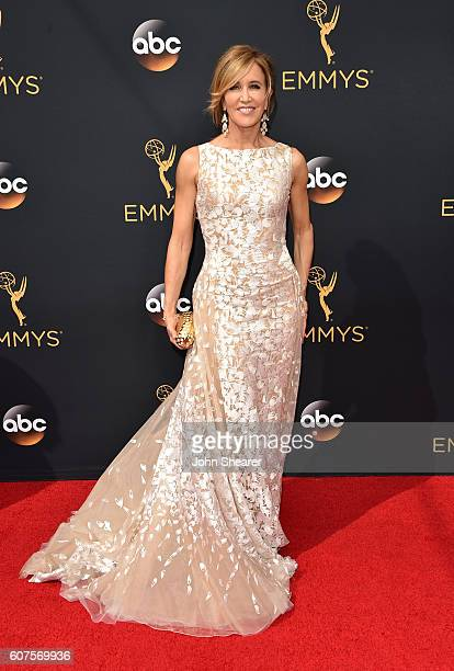 Actress Felicity Huffman arrives at the 68th Annual Primetime Emmy Awards at Microsoft Theater on September 18 2016 in Los Angeles California
