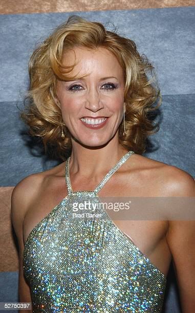 Actress Felicity Huffman arrives at The Atlantic Theater Company's 2005 Spring Gala at the Rainbow Room on May 2 2005 in New York City
