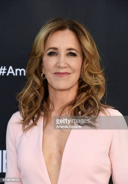 "Actress Felicity Huffman arrives at the FYC Event for ABC's ""American Crime"" at the Saban Media Center on April 29, 2017 in North Hollywood,..."