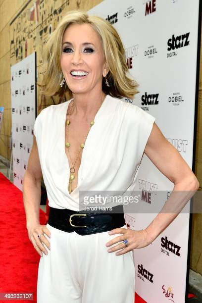Actress Felicity Huffman arrives at the Los Angeles Premiere of 'Trust Me' at the Egyptian Theatre on May 22 2014 in Hollywood California