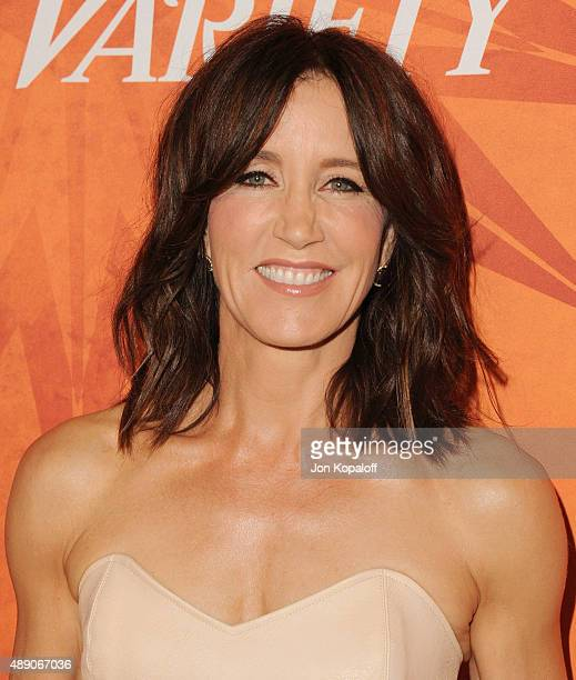 Actress Felicity Huffman arrives at the Variety And Women In Film Annual Pre-Emmy Celebration at Gracias Madre on September 18, 2015 in West...