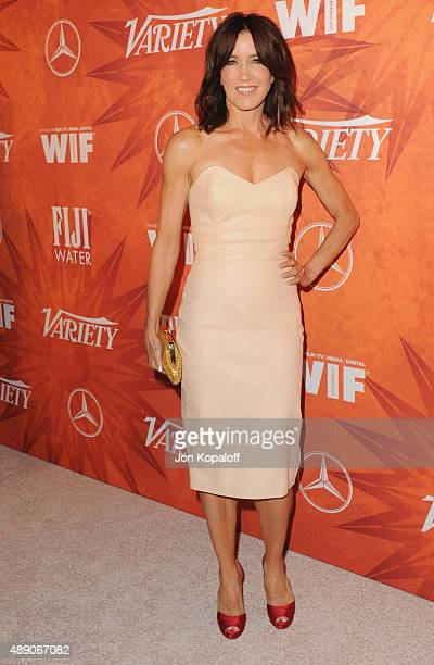 Actress Felicity Huffman arrives at the Variety And Women In Film Annual PreEmmy Celebration at Gracias Madre on September 18 2015 in West Hollywood...