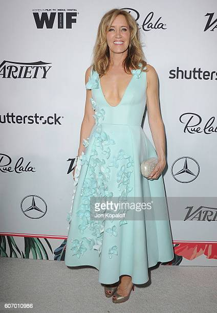 Actress Felicity Huffman arrives at Variety And Women In Film's PreEmmy Celebration at Gracias Madre on September 16 2016 in West Hollywood California