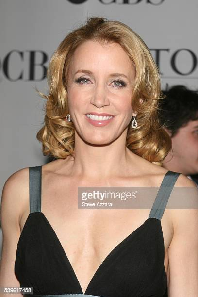 Actress Felicity Huffman arrives for the 61st Annual Tony Awards at Radio City Music Hall in New York New York