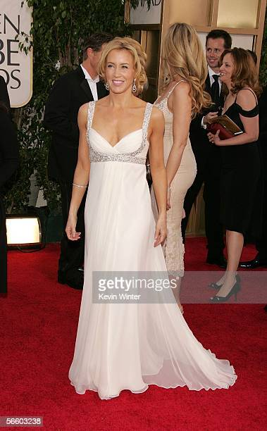 Actress Felicity Huffman arrives to the 63rd Annual Golden Globe Awards at the Beverly Hilton on January 16, 2006 in Beverly Hills, California.