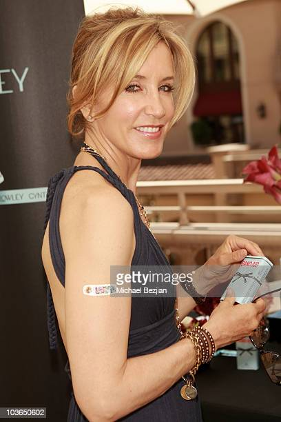 Actress Felicity Huffman at the Band-Aid booth during Kari Feinstein Primetime Emmy Awards Style Lounge Day 1 held at Montage Beverly Hills hotel on...