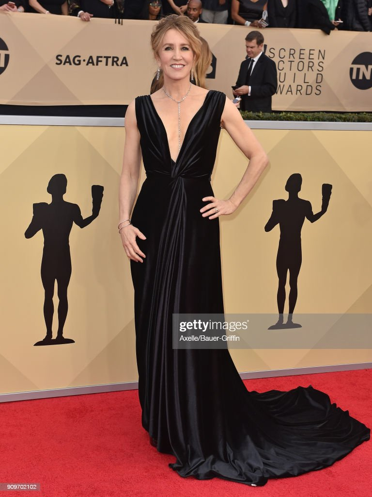 Actress Felicity Huffman attends the 24th Annual Screen Actors Guild Awards at The Shrine Auditorium on January 21, 2018 in Los Angeles, California.