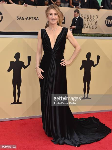 Actress Felicity Huffman attends the 24th Annual Screen Actors Guild Awards at The Shrine Auditorium on January 21 2018 in Los Angeles California