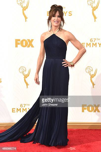 Actress Felicity Huffman attends the 67th Annual Primetime Emmy Awards at Microsoft Theater on September 20 2015 in Los Angeles California