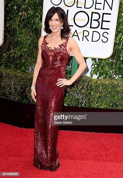 Actress Felicity Huffman attends the 73rd Annual Golden Globe Awards held at the Beverly Hilton Hotel on January 10 2016 in Beverly Hills California
