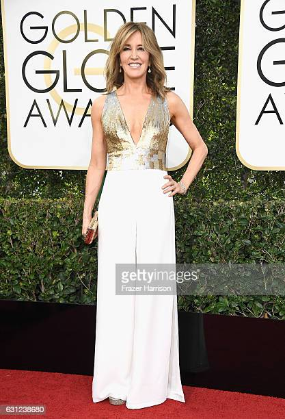 Actress Felicity Huffman attends the 74th Annual Golden Globe Awards at The Beverly Hilton Hotel on January 8 2017 in Beverly Hills California
