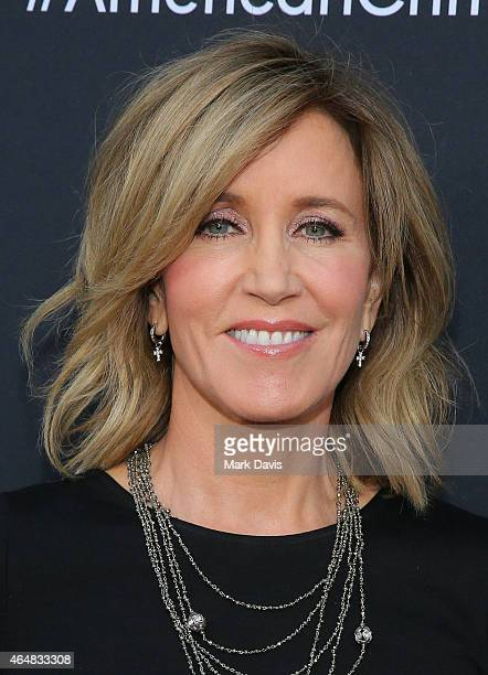 Actress Felicity Huffman attends the premiere of ABC's 'American Crime' held at the Ace Hotel on February 28 2015 in Los Angeles California